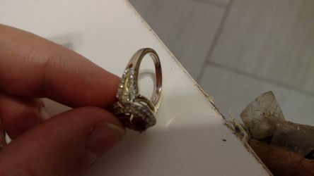 18kt Gold and white gold wedding Ring Thumbnail