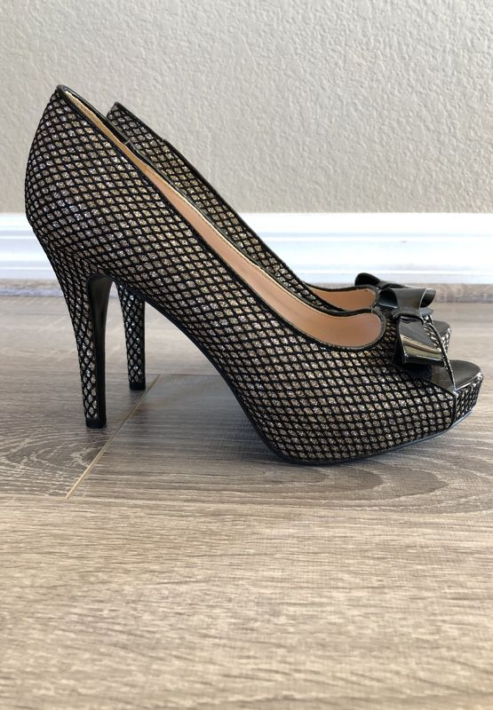 99ee2760d52d Black Nine West sparkle heels with bow (Clothing   Shoes) in Oceanside