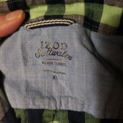 Short Sleeve Button Shirt, Plaid, XL Thumbnail