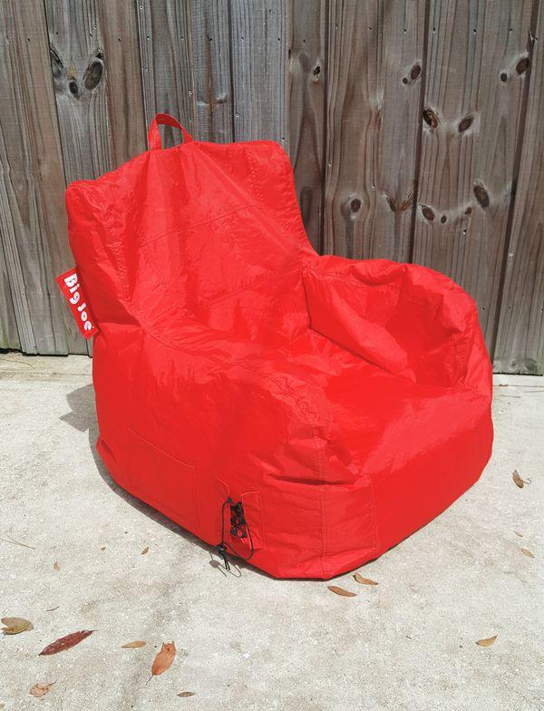 Big Joe 645613 Dorm Bean Bag Chair Flaming Red For Sale In Orange