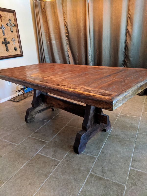 Dining Room Table, 6 Chairs & Console Table - Rustic Pine for Sale in Phoenix, AZ - OfferUp
