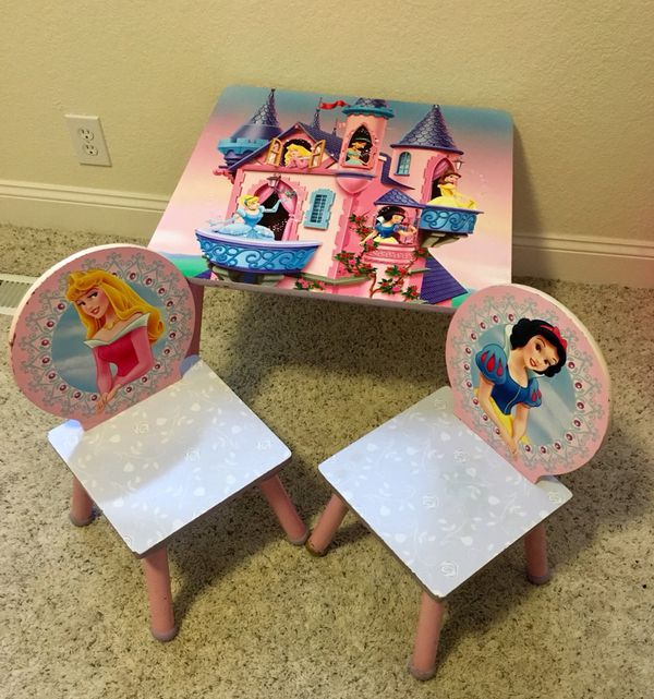 Disney Princess wood table and chair set (Baby & Kids) in San Jose ...
