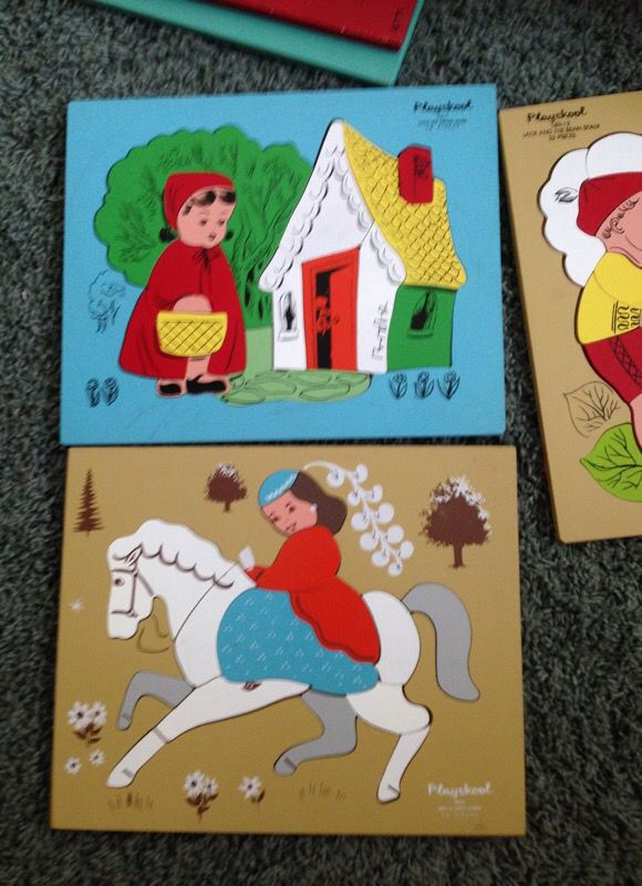 Vintage Wooden Playskool Puzzles For Sale In Hemet Ca Offerup