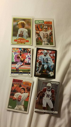 Football cards Marino, Brees, young, simms rookie for Sale in Scottsdale, AZ
