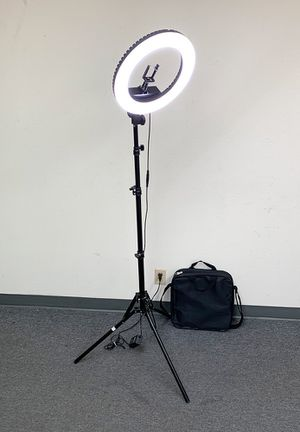 """Photo New $75 each LED 13"""" Ring Light Photo Stand Lighting 50W 5500K Dimmable Studio Video Camera"""