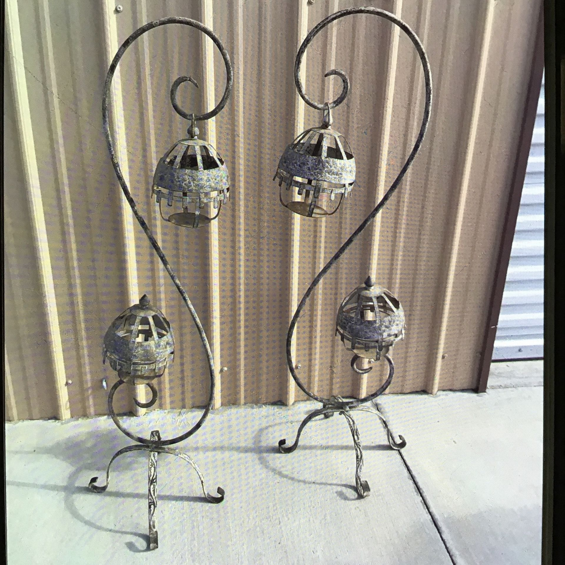 Outdoor Decorative Candle Holders