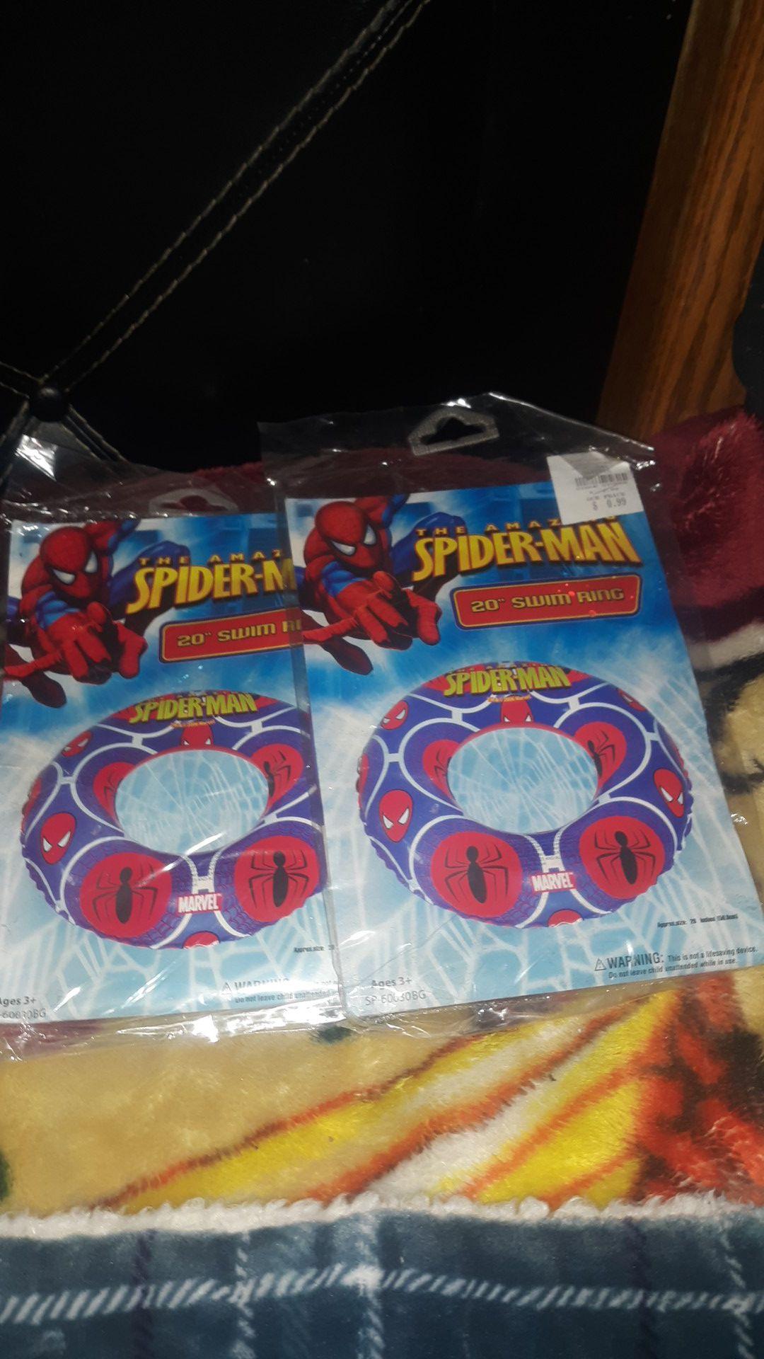 Spiderman pool float 2pack each $1