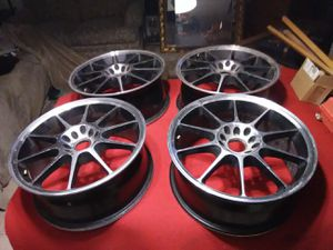 "Set of four (4) 17"" custom mag. Aluminum rims wheels for Sale in Las Vegas, NV"