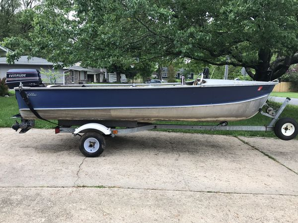13' Cadillac aluminum boat/25 Evinrude/fish finder for Sale in Bel Air, MD  - OfferUp