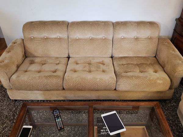 Swedish Tufted Modern Firm Sofa And Chair Set Furniture In On Wa Offerup