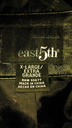 East 5th genuine leather jacket size extra large Thumbnail