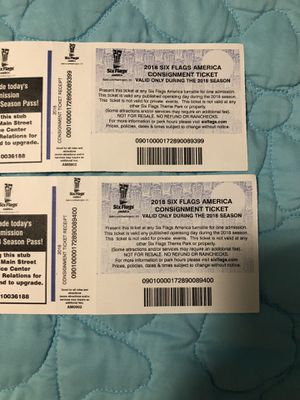 2018 season passes for Sale in Fort Washington, MD