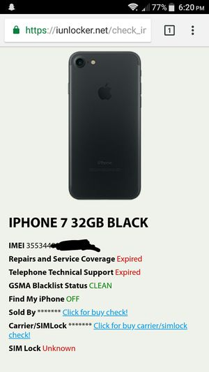 Apple iPhone 7 32GB Matte Black GSM Unlocked IOS T-Mobile AT&T Clean IMEI  for Sale in Tucson, AZ - OfferUp