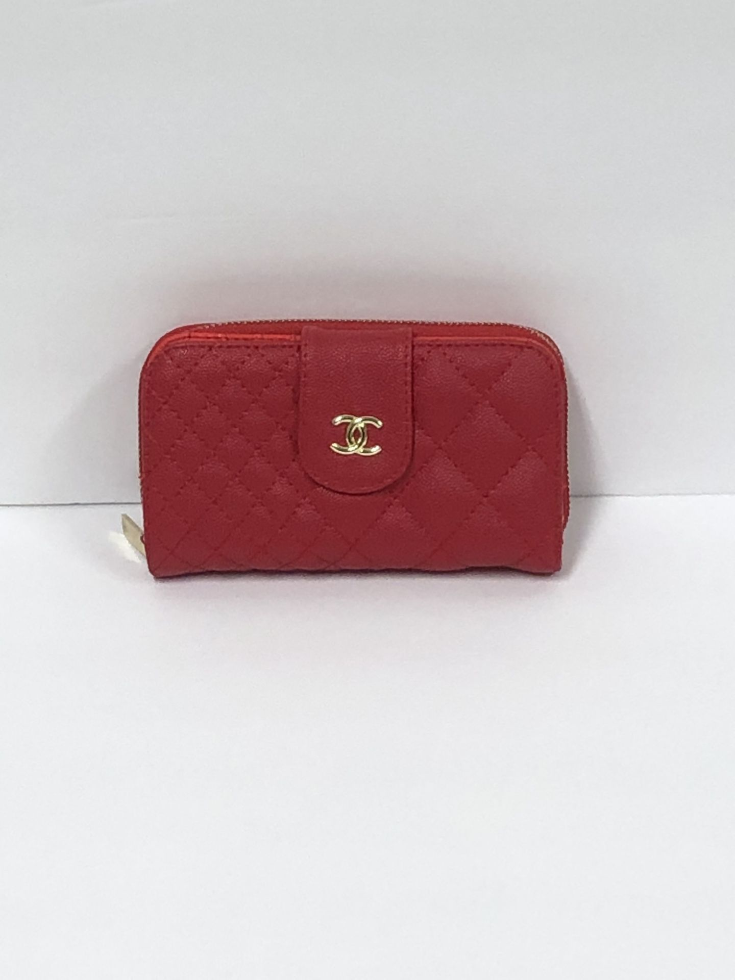 Red Leather Double Sided Wallet