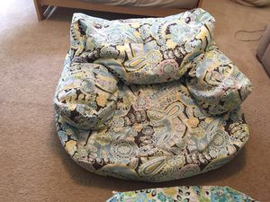 Pottery Barn Paisley chair and duvet cover for Sale in Silver Spring, MD