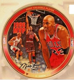 Michael Jordan Plate With Stand...Pre-Owned $25 Each Thumbnail