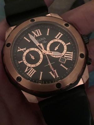 Bulova Men's Chronograph Black Rubber Strap Watch 44mm 98b104 for Sale in Washington, DC