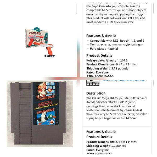 Super Nintendo Cartridge/Duck Hunter Gun for Sale in Converse, TX - OfferUp
