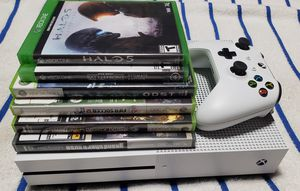 white Xbox One console with controller and game for Sale in Fort Washington, MD
