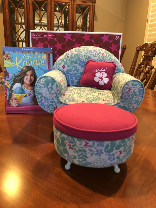Fabulous American Girl Doll Kananis Lounge Chair With Ottoman Book Unemploymentrelief Wooden Chair Designs For Living Room Unemploymentrelieforg