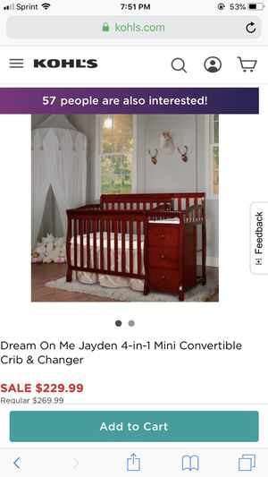 4 in 1 baby changing table / crib for Sale in Manassas, VA