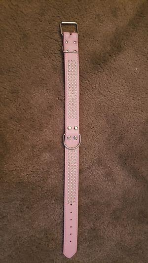 Pink rhinestone dog collar (medium/large breed) for Sale in Las Vegas, NV