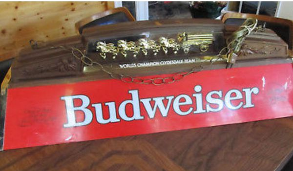 Budweiser Pool Table Light With Clydesdales Antiques In Fort - Budweiser clydesdale pool table light