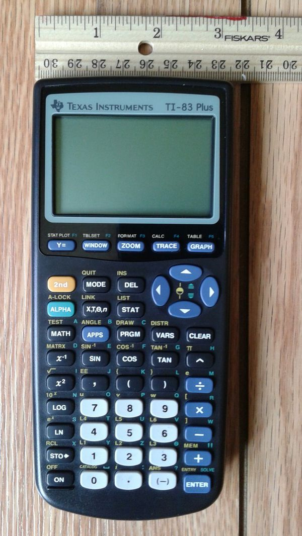 Texas Instruments Graphing Calculator T1-83 PLUS With Cover ...