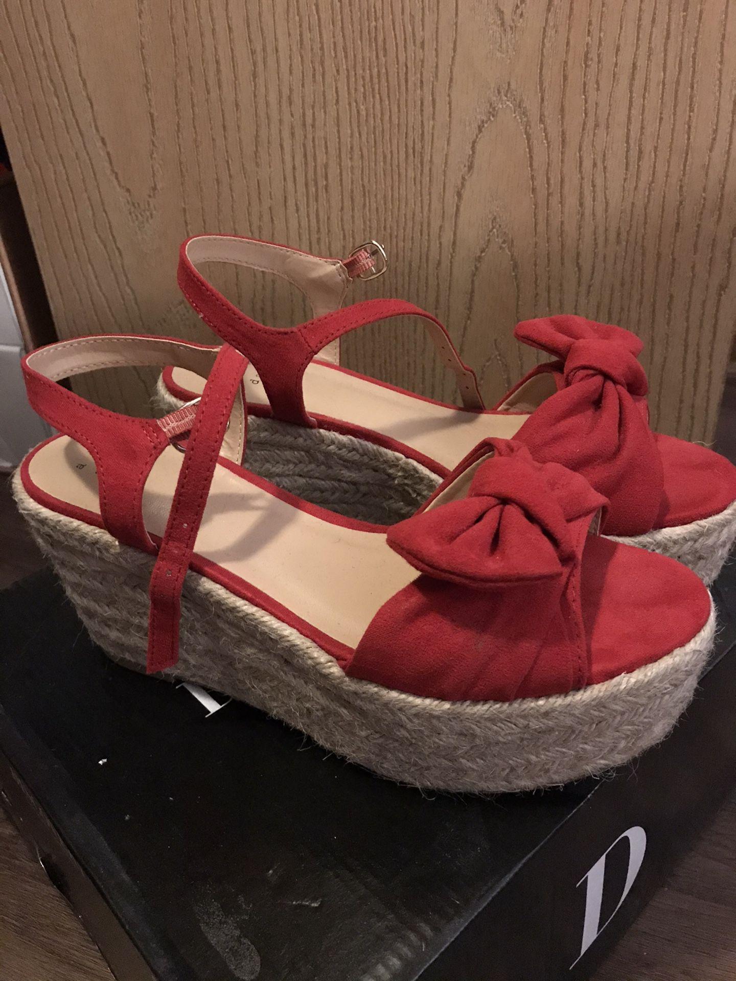 High wedge shoe
