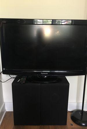 2 Sony speakers and Panasonic tv 32 inch for Sale in Alexandria, VA