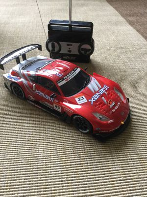 NISSAN Red and white & black Super GT car / Radio Control Race Car 4 Speed full function 😎👍🏎🏎🏎 for Sale in Alexandria, VA