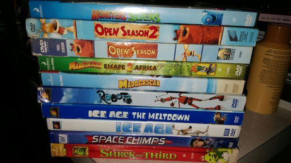 Disney Pixar DreamWorks DVD Lot Shrek Ice Age Madagascar ...