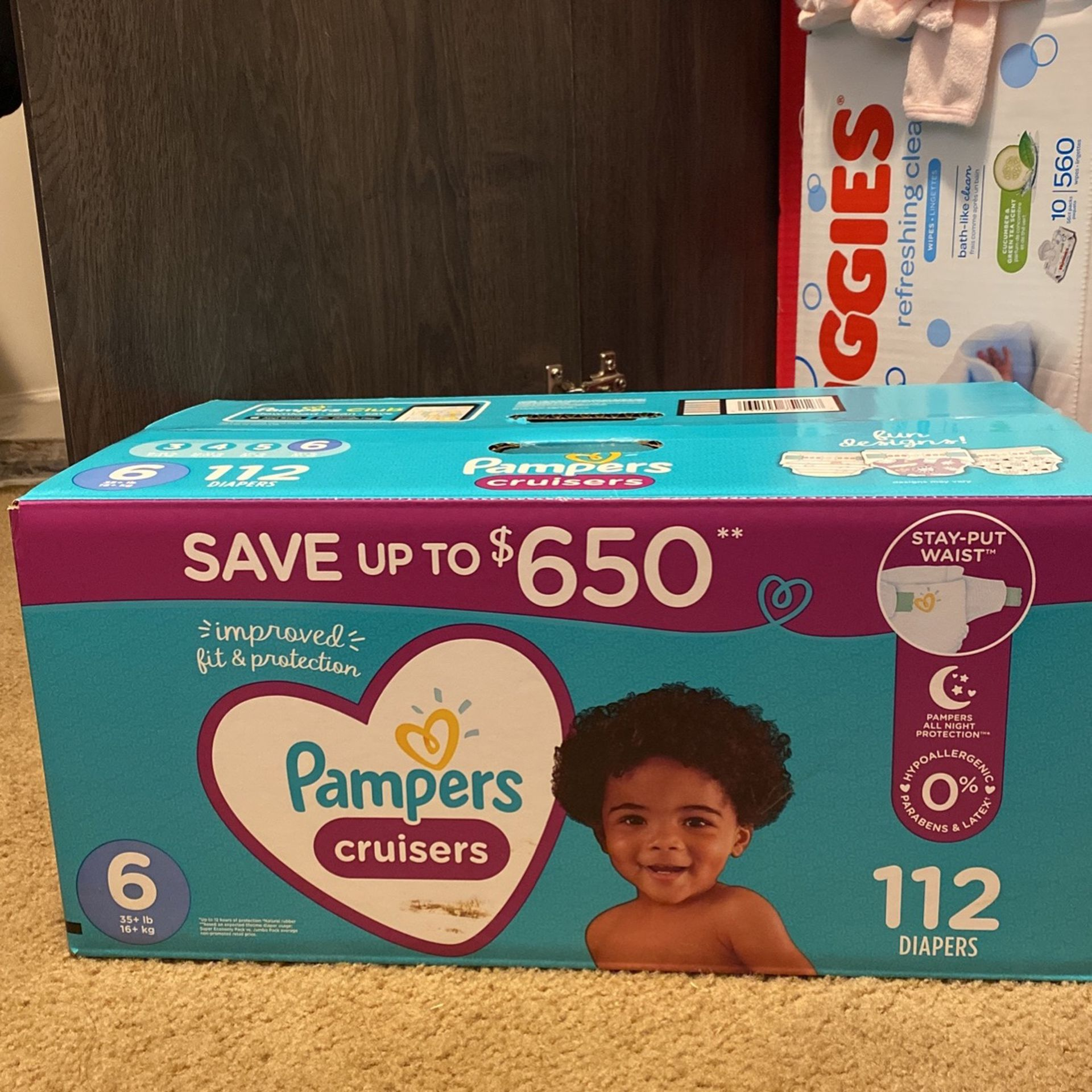 Pampers Cruisers Size 6 (116 Diapers)