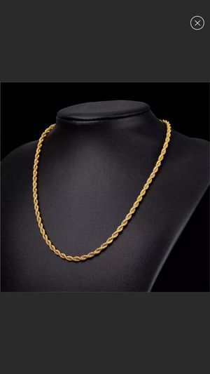 """New 18k gold plated rope chain 22"""" for Sale in Cumming, GA"""
