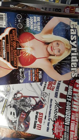 100 motorcycle magazines Easyriders V-Twin biker tattoo Savage for Sale in Santa Monica, CA