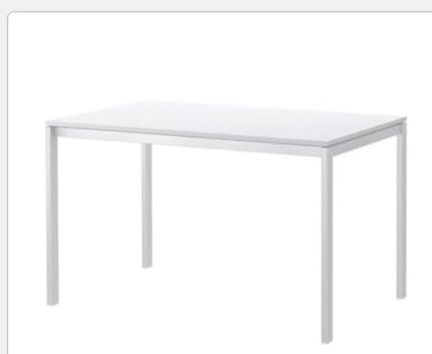 White Metal Dining Table just like new!