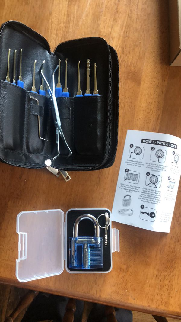 Fun practice lock and lock picking tools 24 piece set and leather case for  Sale in Phoenix, AZ - OfferUp