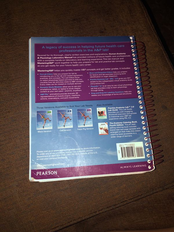 Human anatomy and physiology laboratory manual for Sale in Los ...