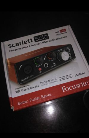 Focusrite Scarlett SOLO (Newest Model) for Sale in Hyattsville, MD