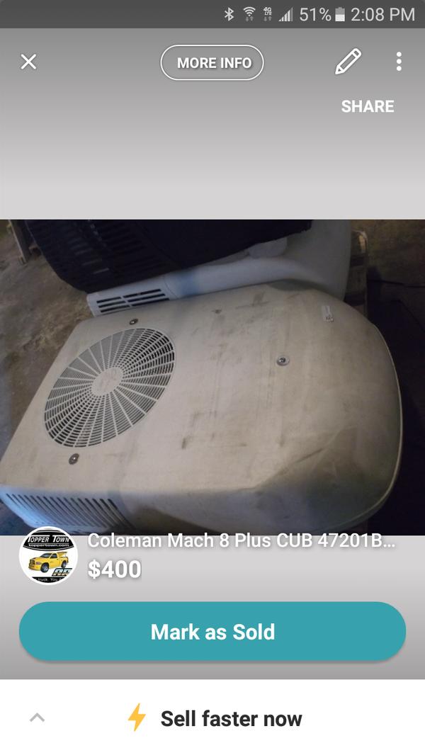 Coleman Mach 8 Plus CUB 47201B876 for Sale in Pinellas Park, FL - OfferUp