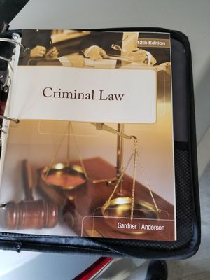 Criminal law gardner and Anderson 12th edition for Sale in Tampa, FL