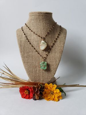 Light and Dark green Crystal Druzy Necklace for Sale in Centreville, VA