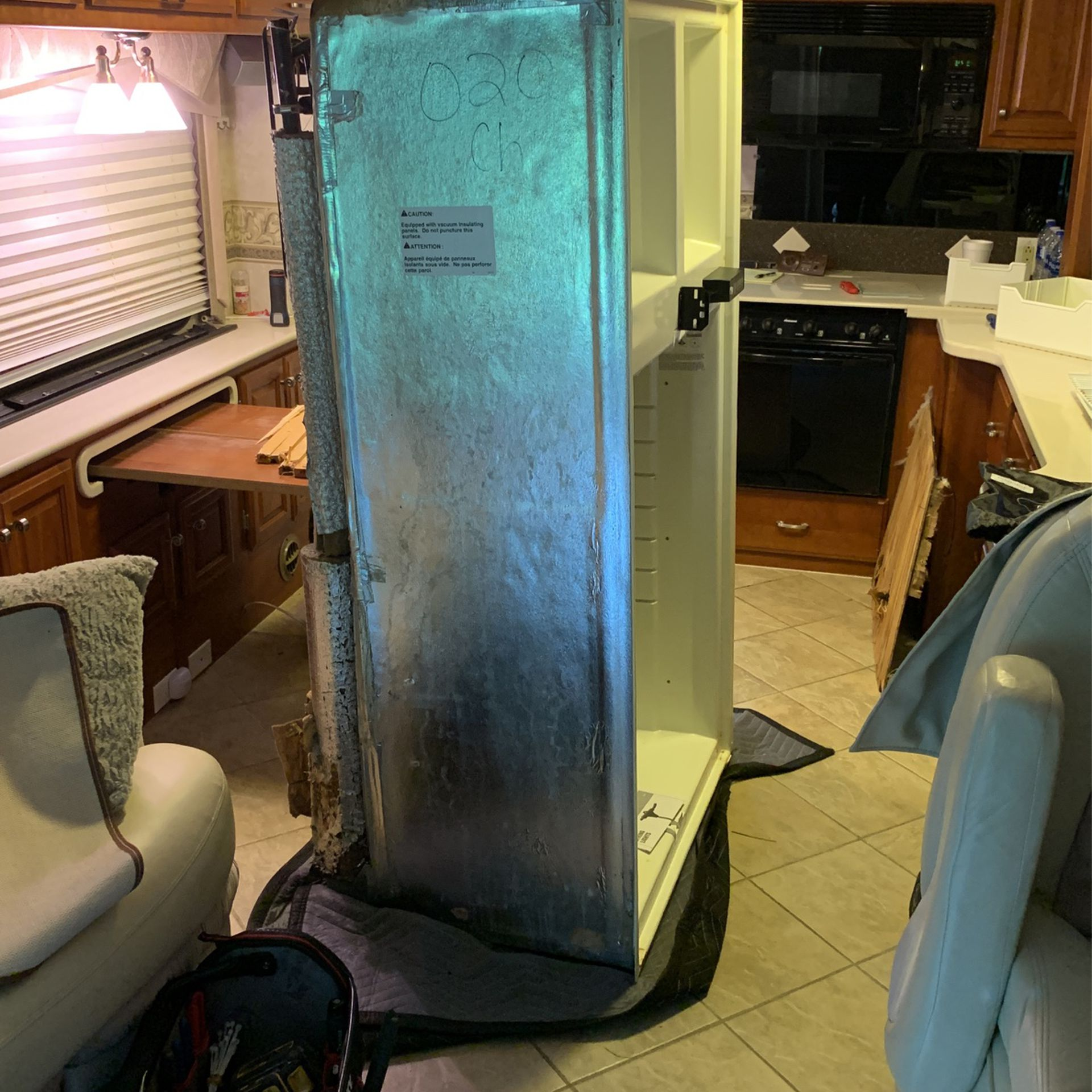 Photo RV Refrigerator Without Doors