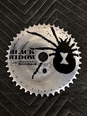 ODYSSEY BLACK WIDOW SPROCKET 43T SILVER NEW OLD STOCK