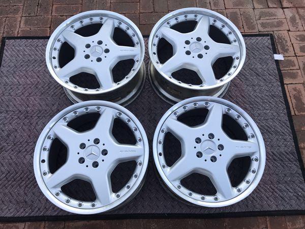 Mercedes AMG BBS wheels - 2 piece - 19x8 5 19x9 5 - Refinished - 5x112 for  Sale in Phoenix, AZ - OfferUp