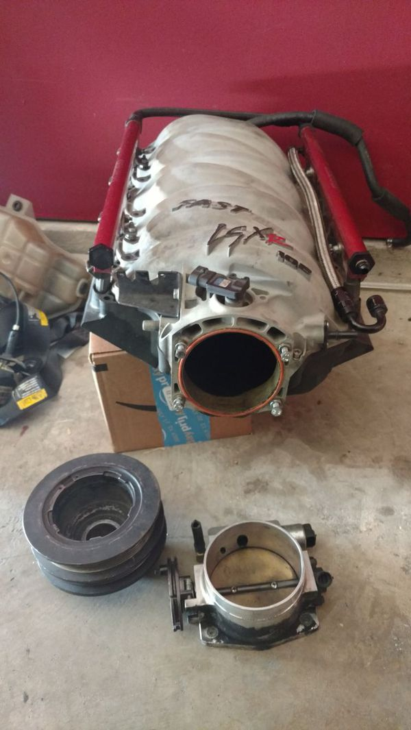 Ls1 Ls2 Ls6 Fast 102 mm intake manifold SLP pulley 102 mm throttle body for  Sale in Houston, TX - OfferUp