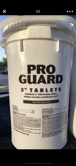 50lbs pool chlorine tablets for Sale in Fort Myers, FL