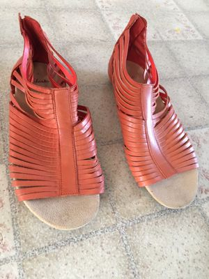 Photo Clark's Women's Sandals, leather, burnt orange, European size 6.5