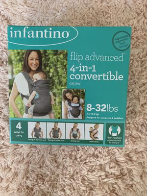 Like new! Infantino 4 in 1 convertible baby carrier for Sale in Annandale, VA