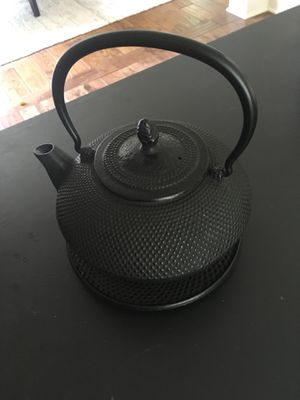 Japanese Cast Iron Teapot with trivet and strainer insert for Sale in Seattle, WA
